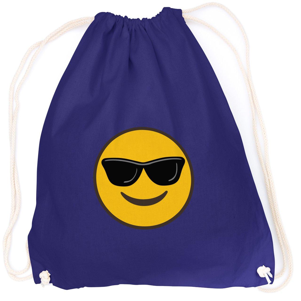 Cooler Smiley con gafas de sol Emoticon Emoji/TURN Bolsa con ...