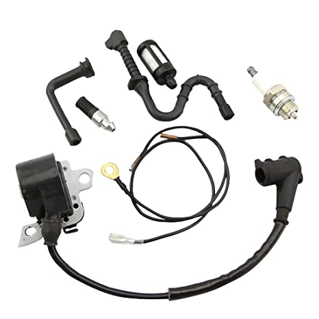 Gazechimp Bobina Ignición Cables Fuel Line Filtro de Combustible Aceite Bujía para STIHL MS440 044