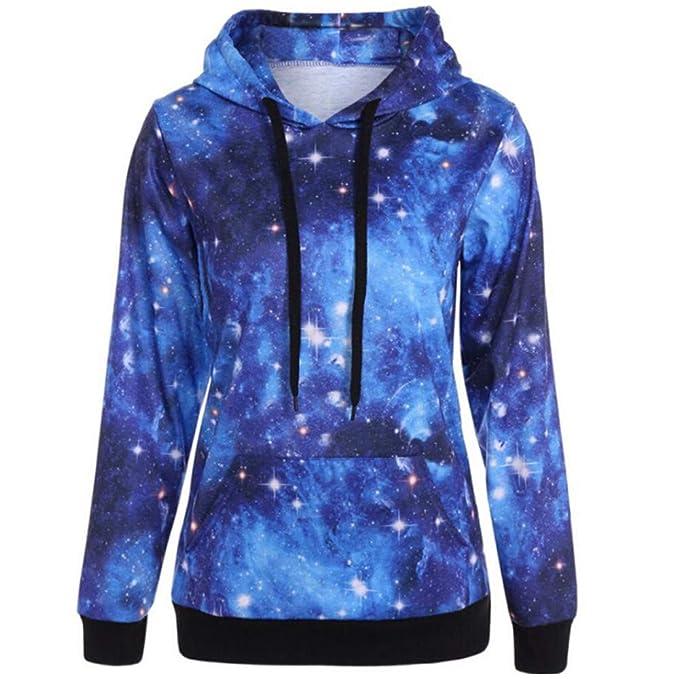Linlink para Mujeres Sudadera de Invierno Sweatshir Abrigo Estrella de impresión Chaqueta Estampada Estrella Abrigos Blusa Superior: Amazon.es: Ropa y ...