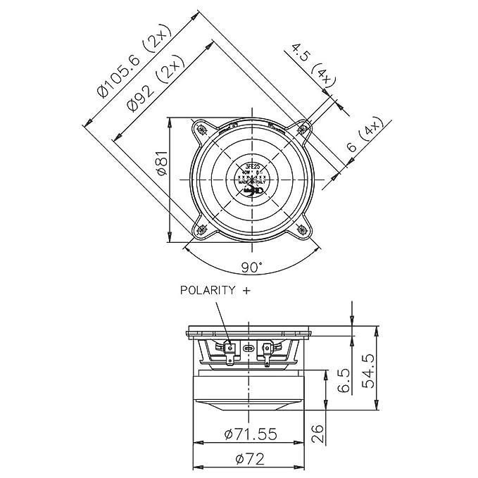 Pair Faital Pro 3fe25 3 Midrange Full Range Woofer Speaker 8 Ohms