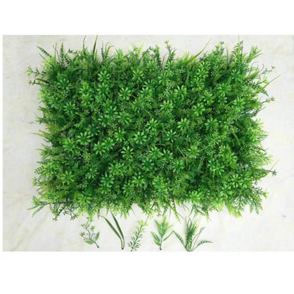 YI GAO Simulation Plant Wall Lawn Campus Green Carpet Green Plant Wall Fake Turf Wall Green Decoration Green Indoor and Outdoor Background Wall @ (Color : E) by YI GAO