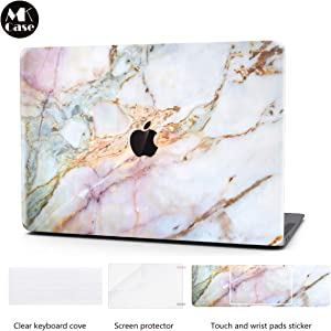 Laptop Case for MacBook Retina 12 Inch Keyboard Cover Plastic Hard Shell Touch Bar 4 in 1 Bundle with Screen Protector for MacBook Retina 12 '' (Model:A1534), Star Marble