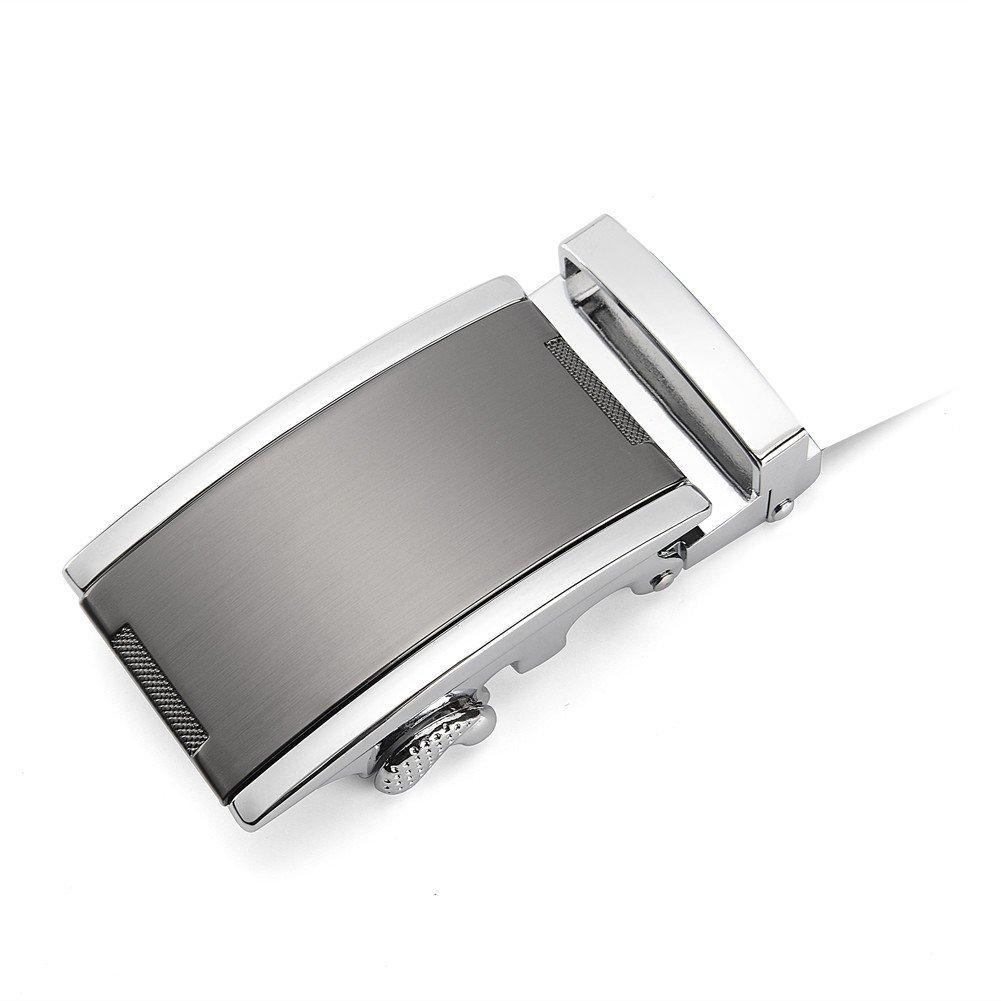 Automatic Slide Click Buckle 40mm XDeer Ratchet Belt Buckle Only for Belt Strap 1 3//8