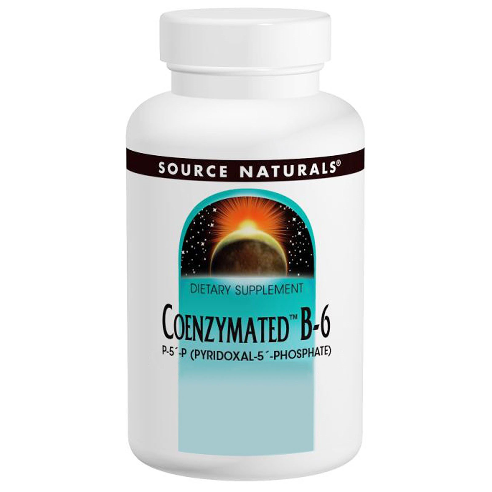 Coenzymated B-6 Sublingual, 25 mg, 120 Tabs by Source Naturals (Pack of 4)