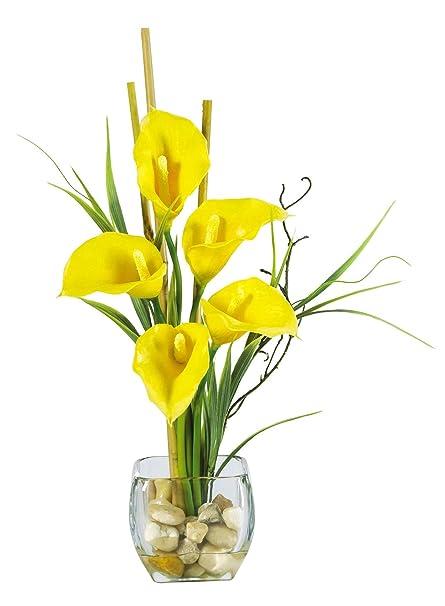 Amazon Artificial Flowers Calla Lilly Liquid Illusion Flower