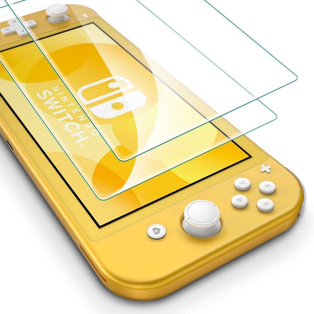 ESR Protector de Pantalla para Nintendo Switch Lite, Resistente a Arañazos, Transparencia HD, Resiste hasta 5Kg de fuerza, Cristal Templado Premium Transparente para Nintendo Switch Lite. 2 unidades.: Amazon.es: Electrónica