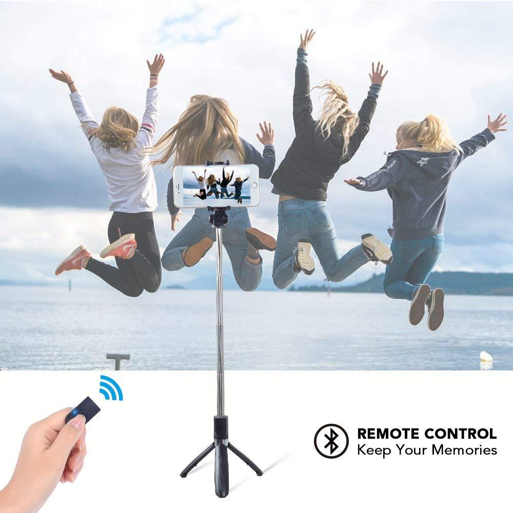 Apexel 3 en 1 Universal Selfie Kit inal/ámbrico con Mini Tr/ípode de Mano port/átil Control Bluetooth Control Remoto Selfie Luz LED para c/ámara Smartphone Gopro iPhone X 8 7Plus Samsung S9 8Plus 7