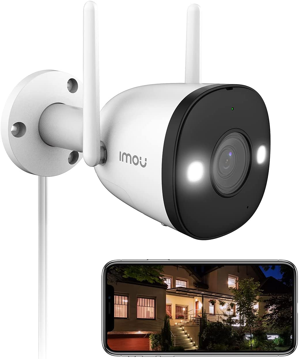 2K Security Camera Outdoor Color Night Vision with Spotlight & Siren, 2.4G WiFi Camera 4MP for Home Security, IP67 Wireless Camera with Human Detection, 2-Way Audio, Ethernet Port, SD Card Slot