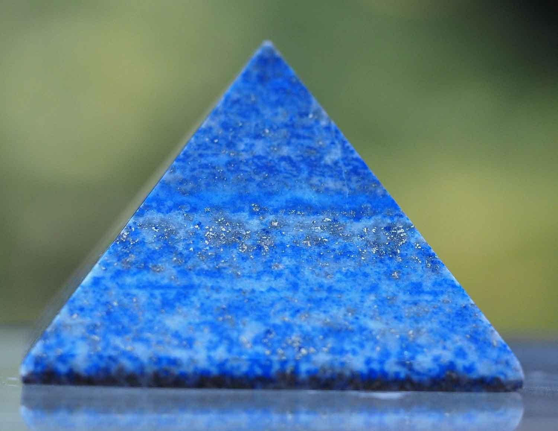 geschn itztes Pyramide Lapis Lazuli V/éritable naturelles 2 inch bleu