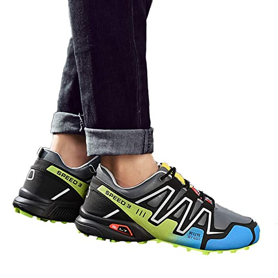 Amazon.com: Hunzed Men【Thick-Soled Non-Slip Sneakers】 Men Running Shoes Hiking Shoes Athletic Outdoor Sports Shoes: Arts, Crafts & Sewing