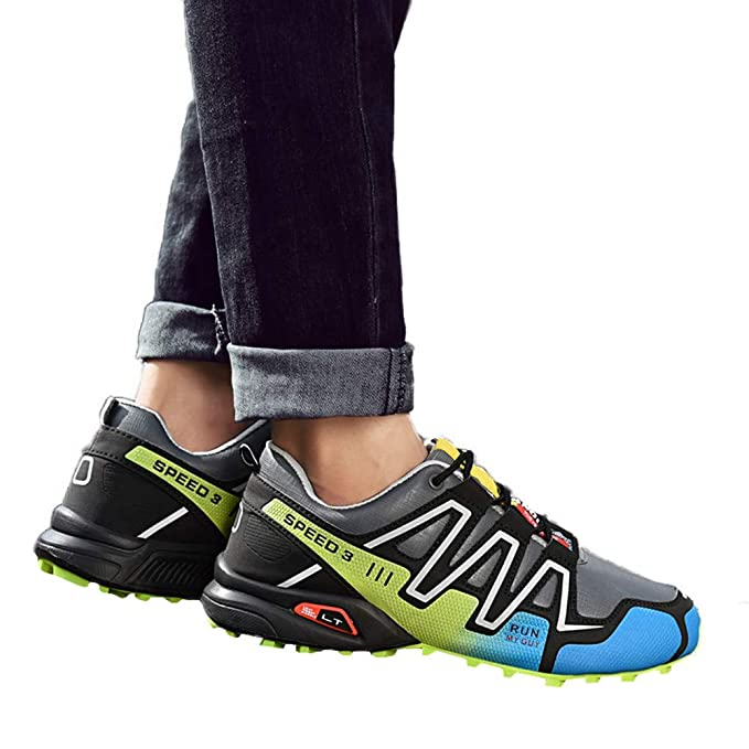Amazon.com: JJLIKER Men Non-Slip Hiking Sneakers Rubber Waterproof Comfort Shoes for Outdoor Trekking Shoes: Sports & Outdoors