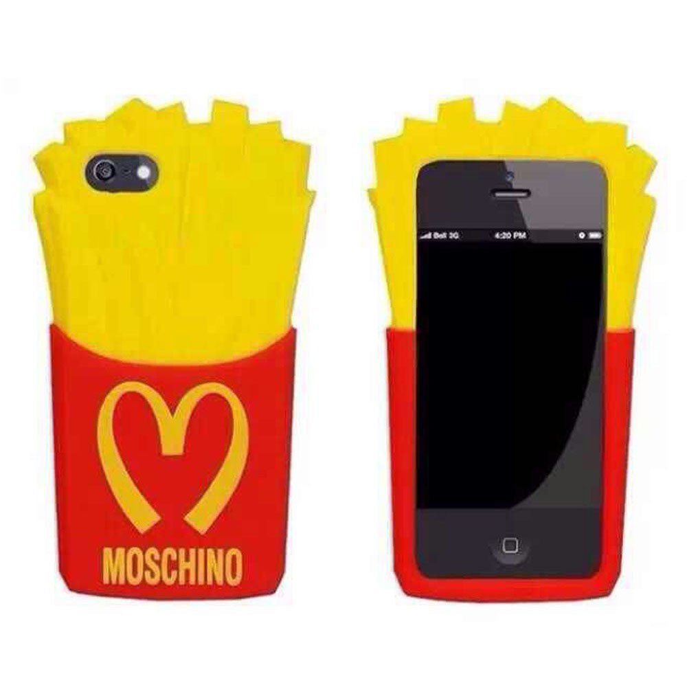 Go Crazzy Moschino Mcdonald 3D Fries Silicone Case Cover Apple iPhone 5 5S 5C SE 5G 5SE