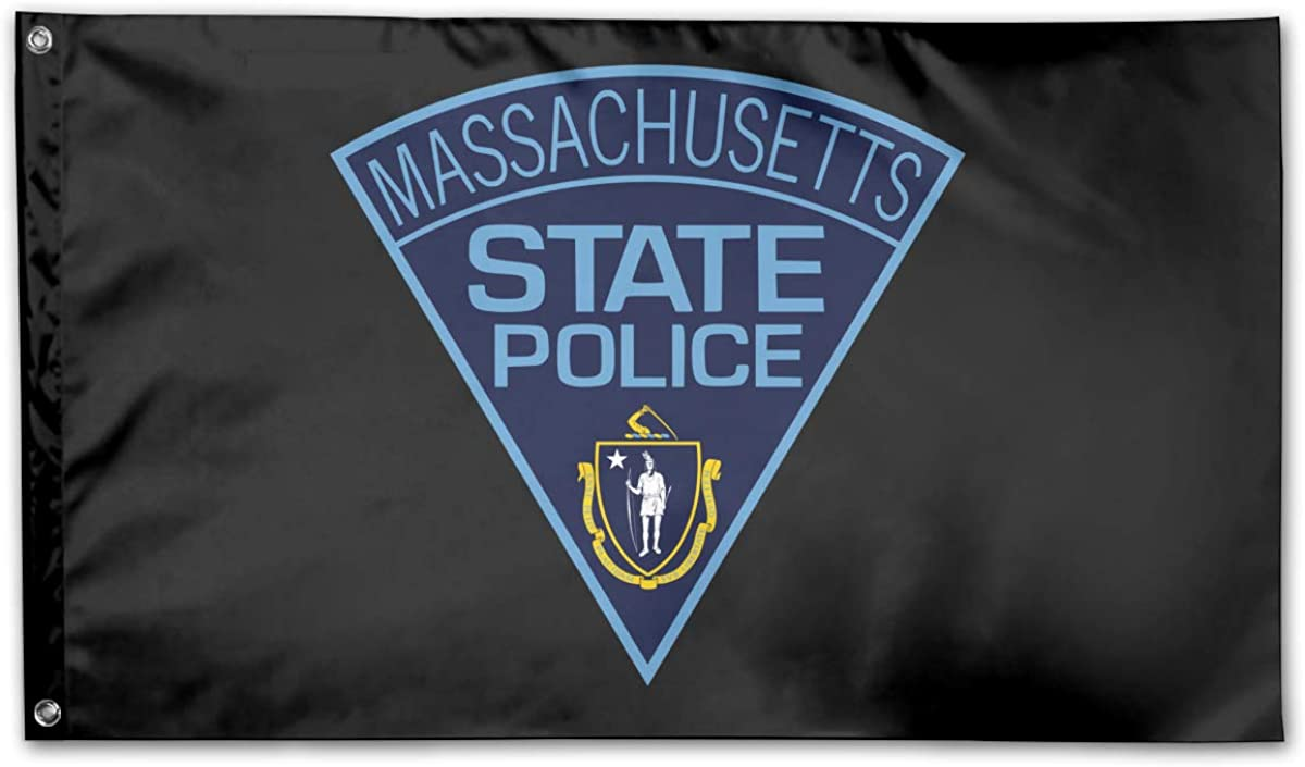 Coolguyid American Flag by U.S. Veterans Owned Massachusetts State Police Flag 3x5 Ft