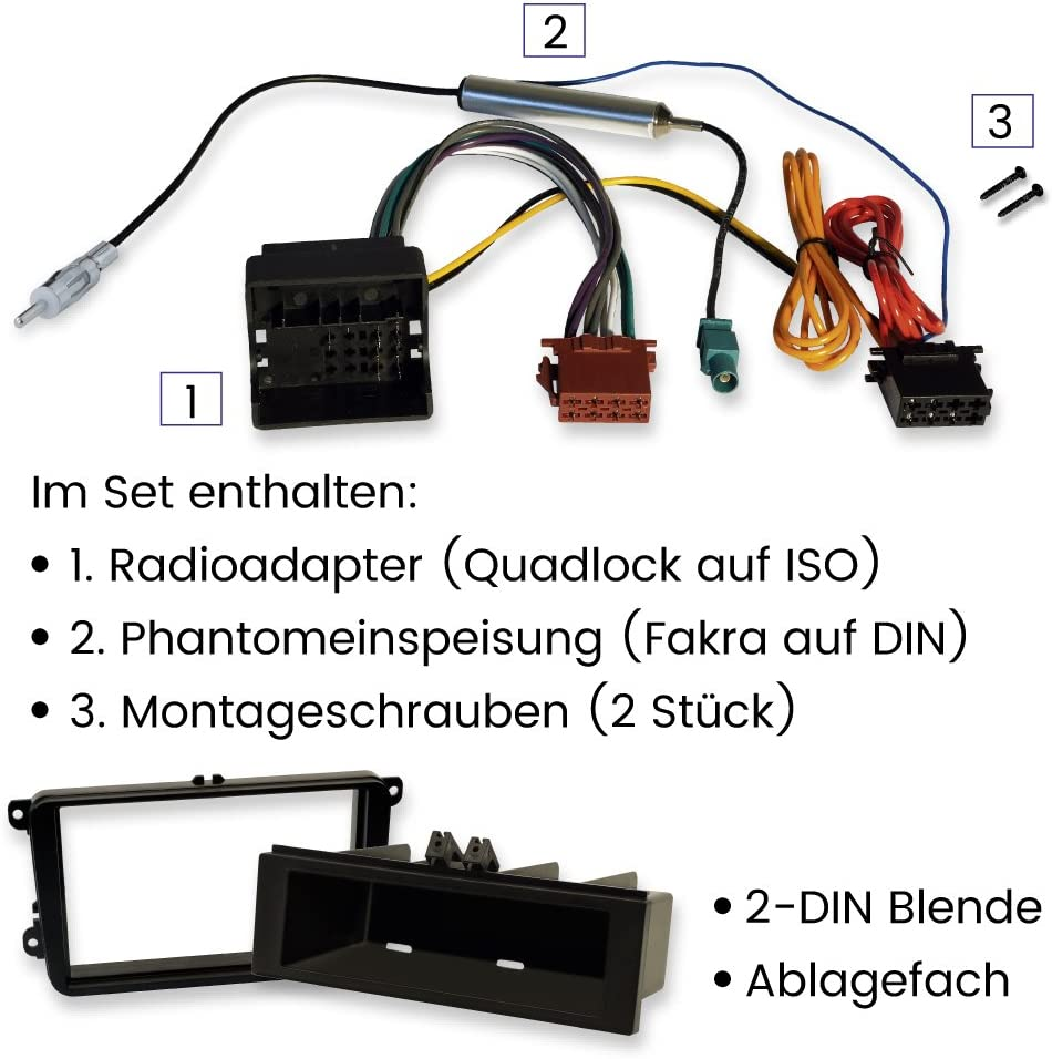 2 Din Und 1 Din Morebasics Einbauset Kompatibel Mit Vw Elektronik