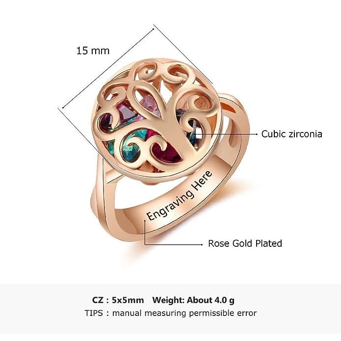 Amazon.com: Personalizado Claddagh Promesa Anillos Set ...