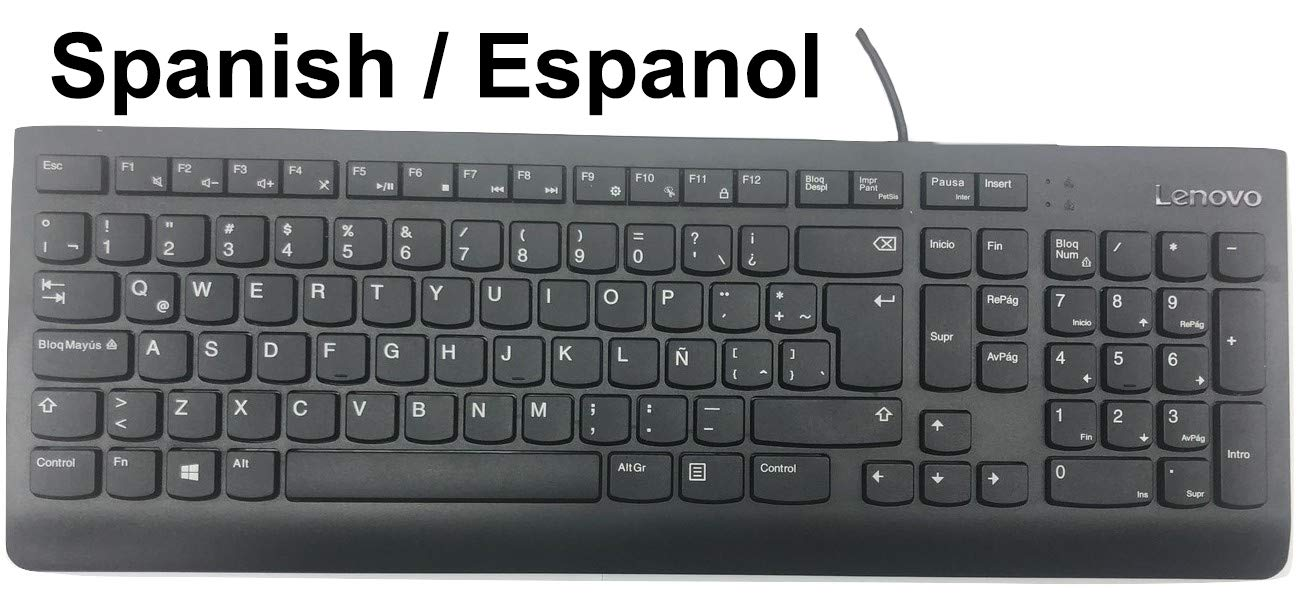 Amazon.com: Lenovo ESPAÑOL Spanish Latin American Keyboard Teclado De Computadora KU-1601 FRU #0XH611 SD50L21349 USB Wired Cableado: Computers & Accessories