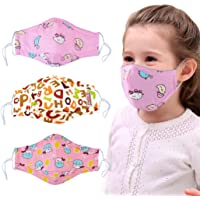 3PCS Mouth Mask Anti Dust Cartoon Cotton Mouth Cover Face Mouth Mask for Kids