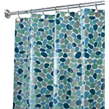 InterDesign River Rockz EVA Shower Curtain, Blue