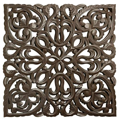 24'' Brown Solaris Eight Wooden Wall Panel