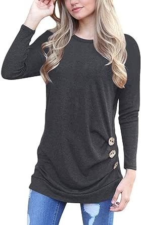 Gillberry Women's Dress Women's Tops, Long Sleeve Loose Neck Tunic T-Shirt