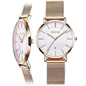 Amazon.com: Relojes ultra delgados de 0.256 in para mujeres ...