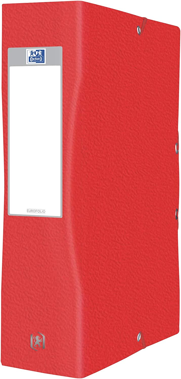 OXFORD Pack of 5 Large Capacity Eurofolio 24 x 32 cm Spine 80 mm with Elastic Card Cover Assorted Colours