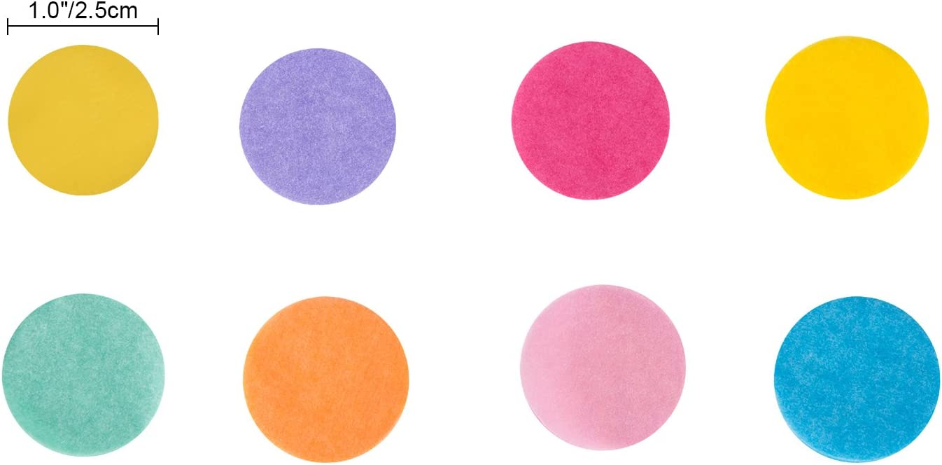 1 Pollici Multicolore Rotondo Coriandoli Tessuto 10000 Pezzi