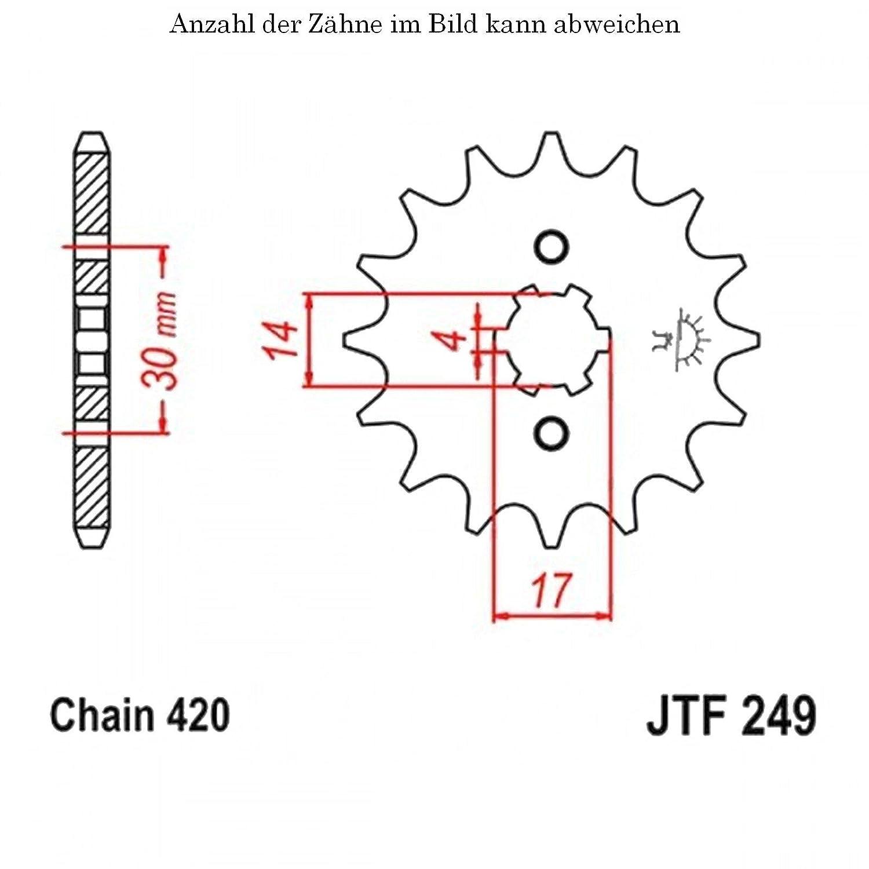 jt Sprockets Ritzel 16 Z/ähne ANF 125 Innova 2007-2012 JTF249.16