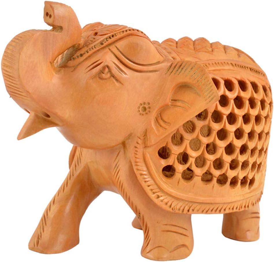 Decorative Wooden Undercut Hand Carved Turtle Set of 5 Pcs