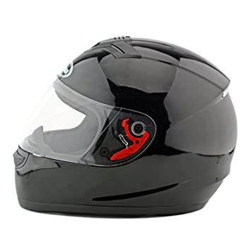 Kangzy Casco de seguridad para motocicleta, moto, scooter, color negro brillante 168