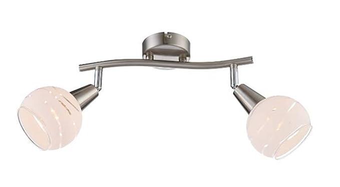 Trango lampada da soffitto al led con effetto in acciaio inox