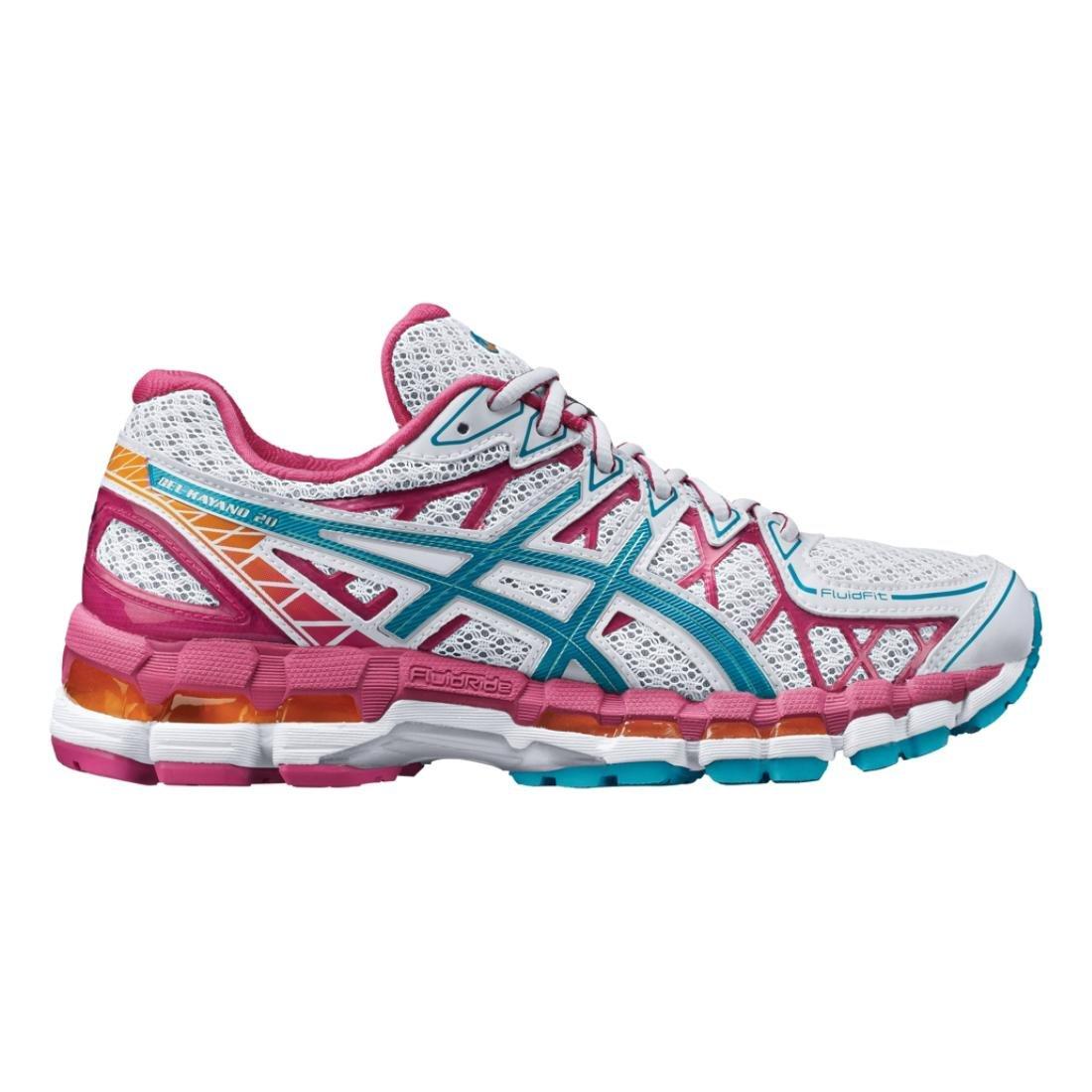 ASICS T3N7N Women's GEL KAYANO 20 Running Shoes, WhtGlf