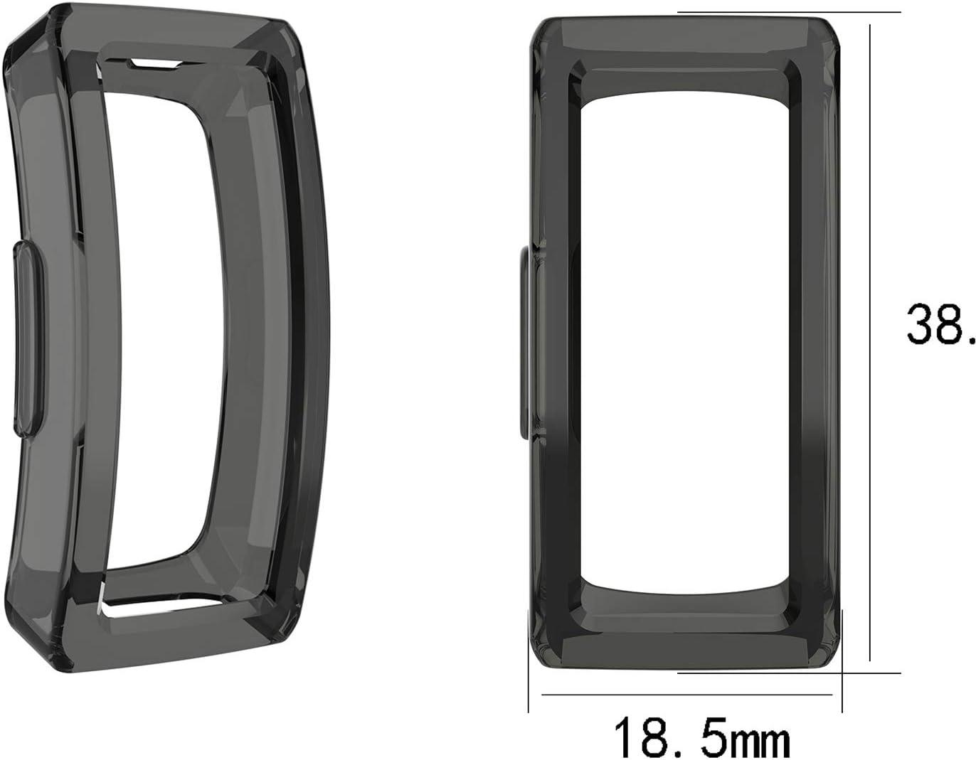 Anti-ca/ída Carcasas de Silicona para Fitbit One Negro Mwoot 3 Unidades Funda para Fitbit One Rojo Azul