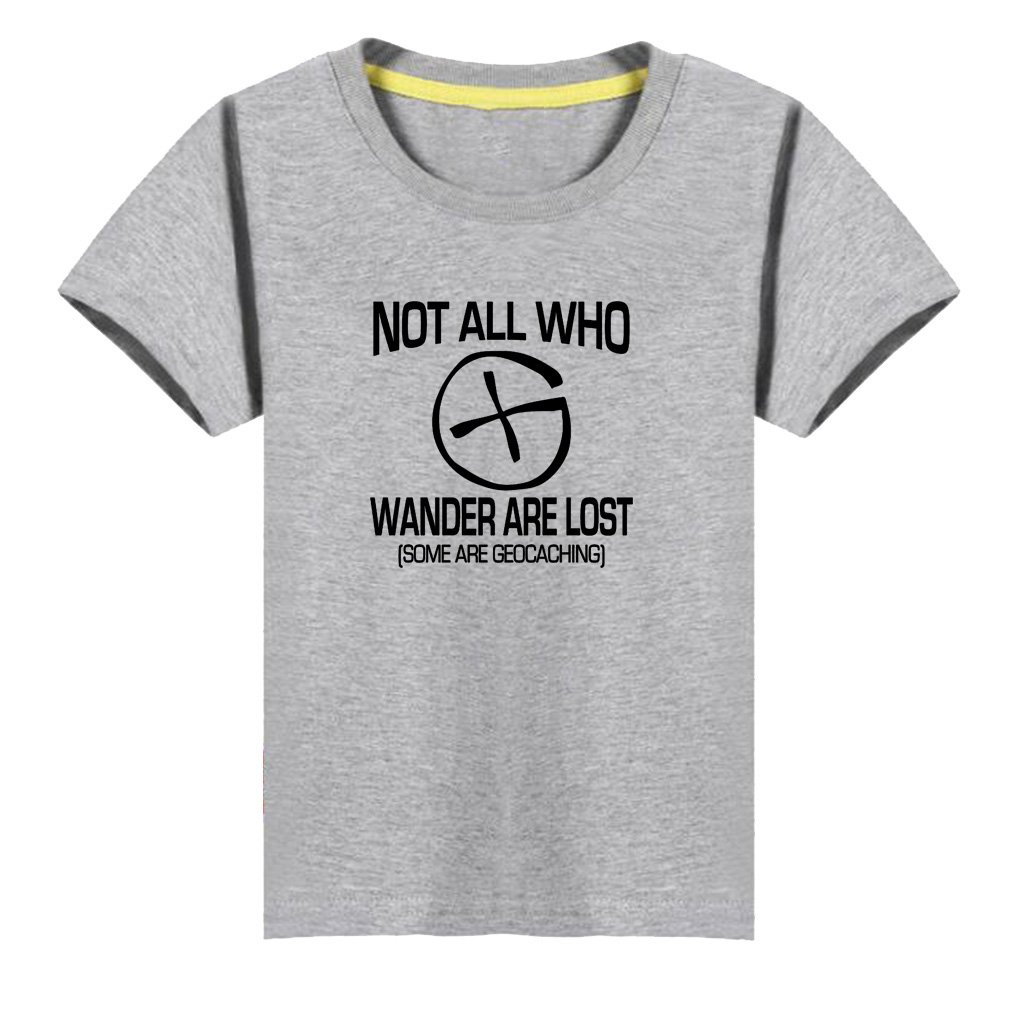 Kids Not All Who Wander are Lost Adventure Lovers T-Shirt (G,6)