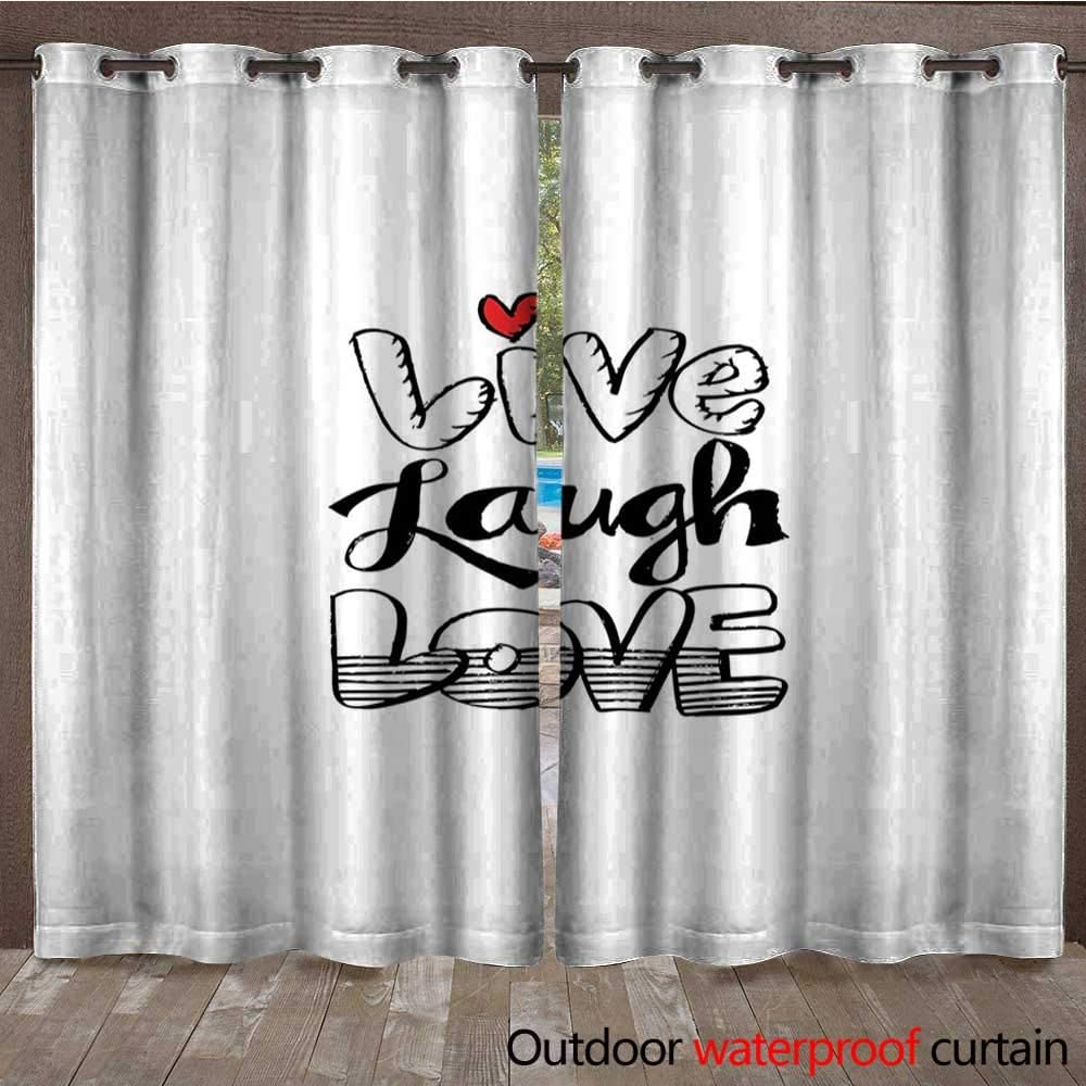 BlountDecor Live Laugh Love - Cortina para Ventana (108 x 96 cm ...