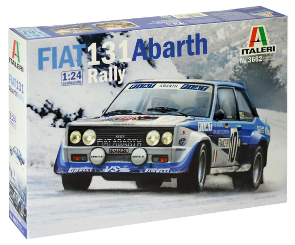 Amazon.com: Italeri 1 / 24 Fiat 131 Abarth Rally Japan language description with data of plastic IT3662: Toys & Games