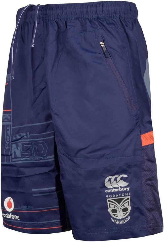 Canterbury Warriors NRL Rugby Vapodri Woven Gym Shorts 21cm Inleg 17//18