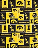 College University of Iowa Hawkeyes Print Fleece Fabric By the Yard by Field's Fabrics