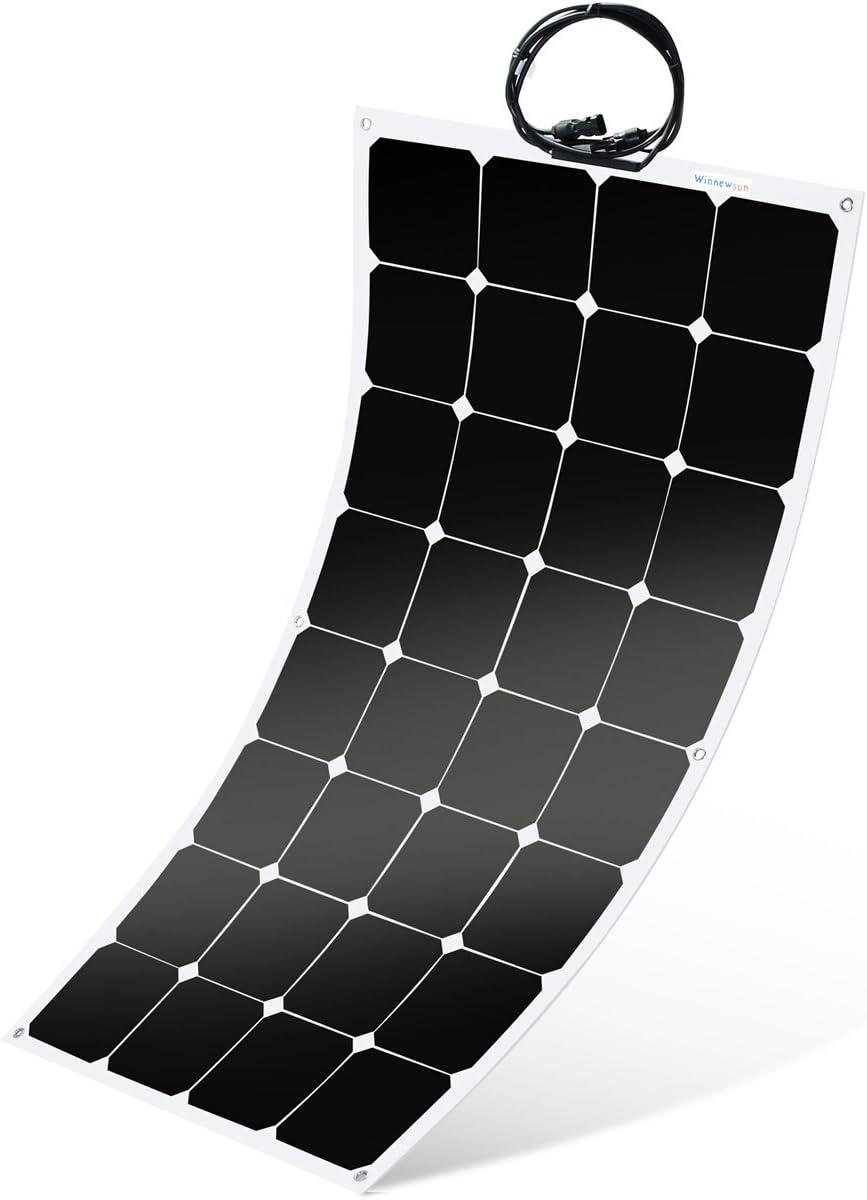 Winnewsun Flexible 100W Solar Panel For Sailboat