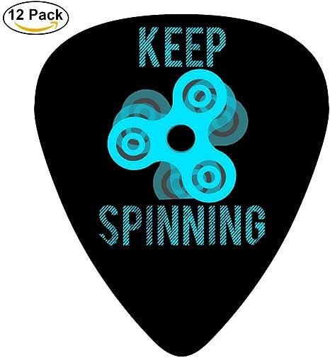 Púas de celuloide personalizadas para guitarra de Keep Spinning ...
