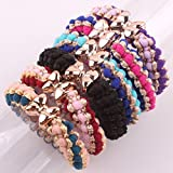 retail 2015 New From Factory Directly Mix Wholesale 6pcs for Women Kids Children Girl Women Hair Accessories Elastic Tie Ponytail Holders Princess Women Hair Rope Rubber Bands Accessories Cuhair(tm) Welcome to Retail or Wholesale
