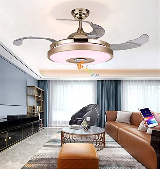 42″ Indoor Bluetooth Music Play Ceiling Fan Light