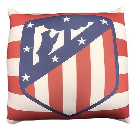 Atlético de Madrid Cojín Felpa Cuadrado Escudo: Amazon.es: Hogar