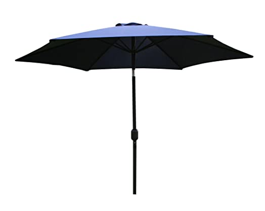 Bentley Garden 2.7m Metal Garden Patio Umbrella Parasol With Crank And 38mm  Tilt Pole