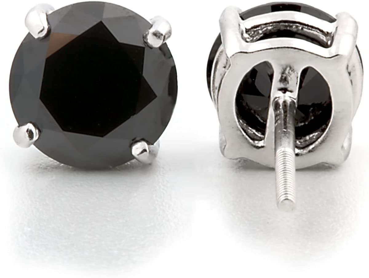 6.50ct Cushion-cut Simulated Citrine Basket Set Stud Earrings 925 Silver Solstice 0752