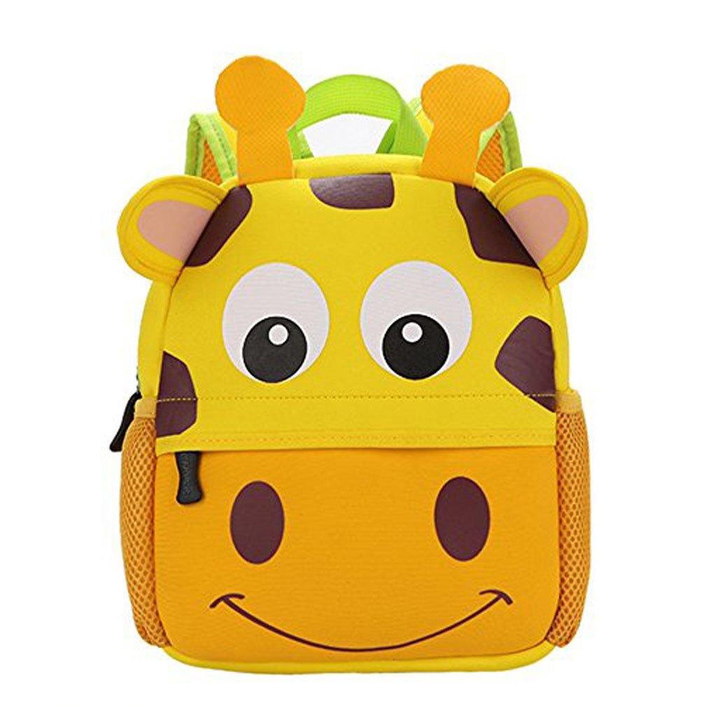 Yeelan Bolsa de escuela impermeable  mochila para niños Jirafa de gran