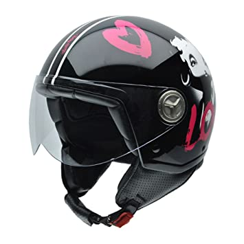 NZI 050274G776 Zeta Glamour by Betty Boop Casco de Moto, Talla 54 (XS)