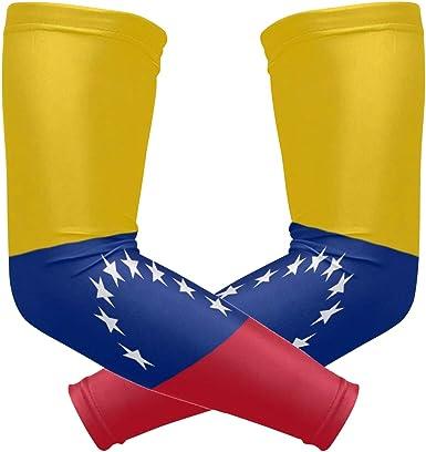 ZZKKO Venezuela bandera de enfriamiento brazo mangas cubierta UV protección solar para hombres mujeres correr golf ciclismo brazo mangas 1 par: Amazon.es: Ropa y accesorios