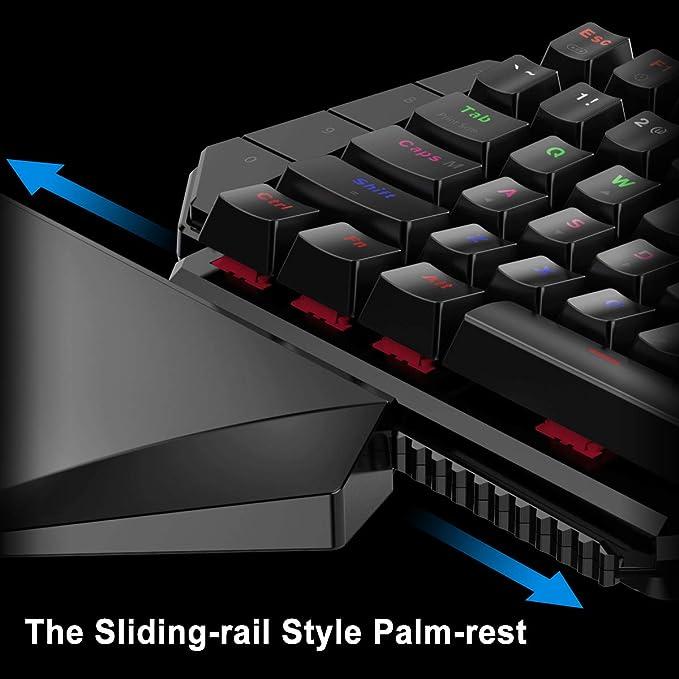 GameSir GK100 One Handed Gaming Keyboard Mechanical mini Game Key Pad USB  Wire - PC (Black)