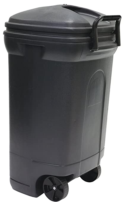 Outdoor Trash Can With Wheels Stunning Amazon United Solutions TB60 Rough And Rugged Rectangular 60